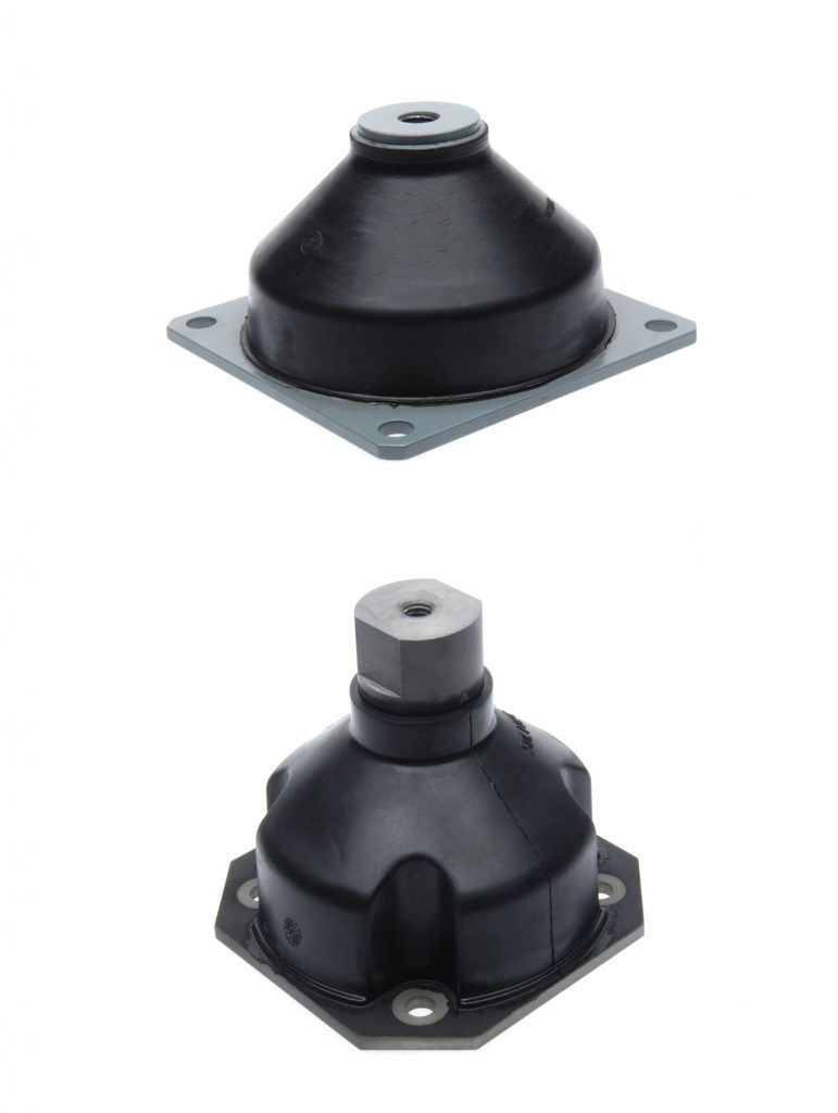 Elastomeric transport shock mounts